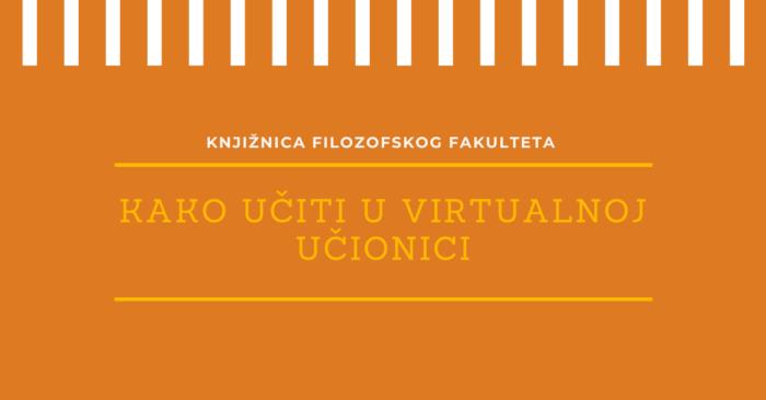 Virtualna učionica: deveti susret